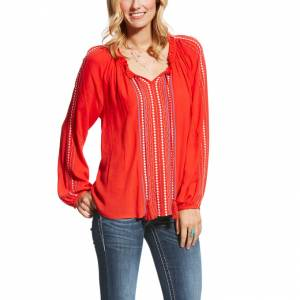Ariat Shawna Top - Ladies - High Risk Red