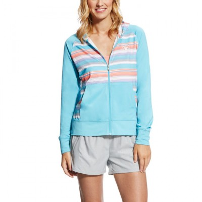 Ariat Murrieta Zip Hoodie - Ladies - Blue Mist