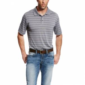 Ariat Fade Polo - Mens - Blue Steel