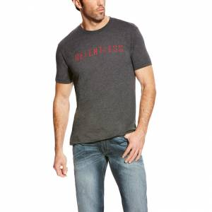 Ariat Rls Stencil Logo Short Sleeve Tee - Mens - Grey