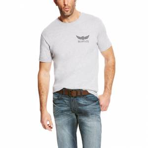 Ariat Rls Shield Short Sleeve Tee - Mens - Heather Gray