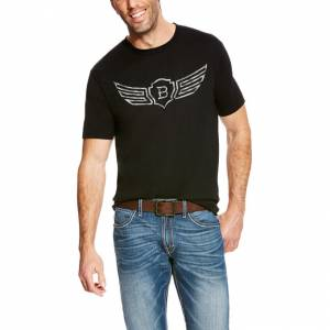 Ariat Rls Metal Logo Short Sleeve Tee - Mens - Black
