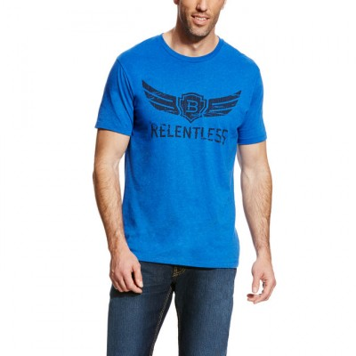 Ariat Rls Classic Logo Tee - Mens - Royal Heather