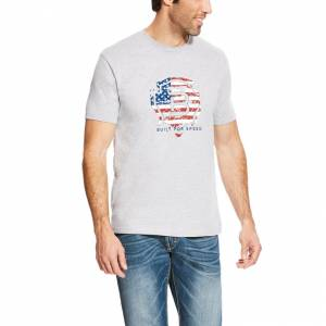 Ariat Rls Americana Tee - Mens - Heather Gray