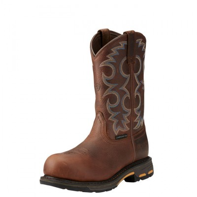Ariat Workhog Pullon Composite Toe - Ladies - Nutty Brown