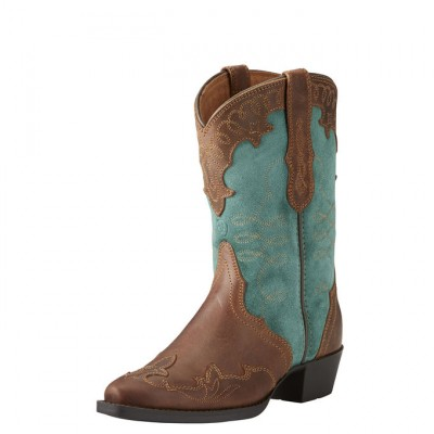Ariat Zealous - Kids -Distressed Brown/Teal