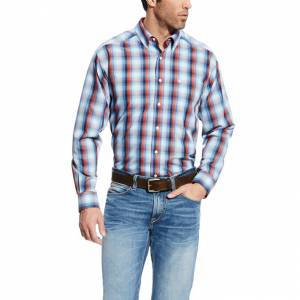 Ariat Men's Wrinkle Free Keith Plaid Long Sleeve Shirt - Multi
