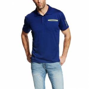 Ariat Men's Freeze Point Polo - Blue Depth