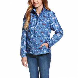 Ariat Girl's Avery Jacket - Blue Saga Trot Print
