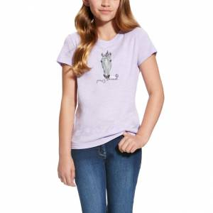 Ariat Girl's Party Animal Tee- Lavender Mist