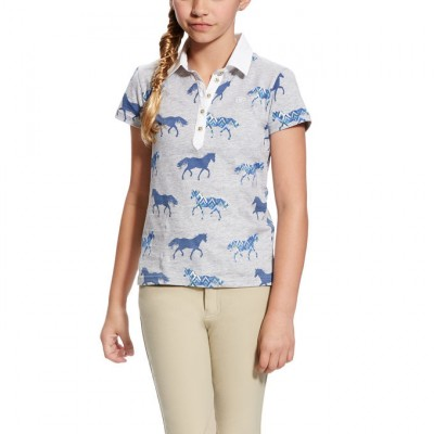 Ariat Girl's Askill Polo - Trot Print
