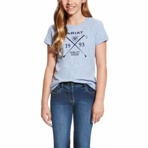 Ariat Girl's Ariat Logo Tee - Chambray Blue