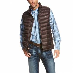 Ariat Men's Ideal Down Vest - Ganache