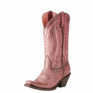 Ariat Circuit Salem - Ladies - Naturally Distressed Pink