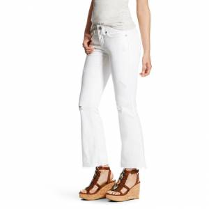 Ariat REAL Mid Rise Cropped St Ella - Ladies - Deconstructed White