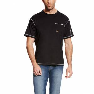 Ariat Rebar Freeze Point Short Sleeve T-Shirt - Mens - Black