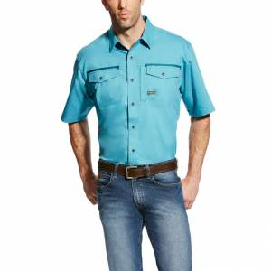 Ariat Rebar Short Sleeve Work Shirt - Mens - Larkspur