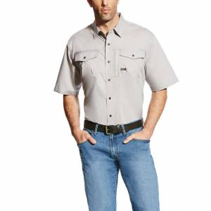Ariat Rebar Short Sleeve Work Shirt - Mens - Alloy