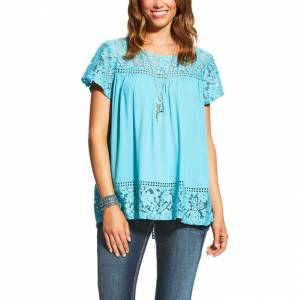 Ariat Adena Top - Ladies - Maui Blue