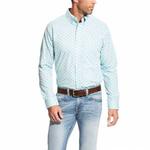Ariat Maximillion Long Sleeve Print Fitted Shirt - Mens - Noon Sky