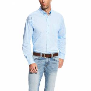 Ariat Milner Long Sleeve Print Fitted Shirt - Mens - Noon Sky