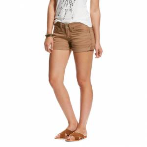 Ariat Boyfriend Twill Short - Ladies - Walnut