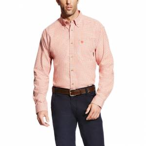 Ariat Fire Resistant Logan Work Shirt - Mens - Red Clay