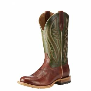 Ariat Match Up  - Mens - Cowboy Cognac/Neon Lime