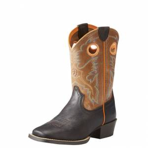 Ariat Heritage Roughstock - Kids - Dark Java/Light Saddle