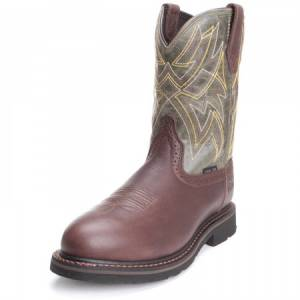 Ariat Everett Steel Toe - Mens - Dark Chocolate/Sage