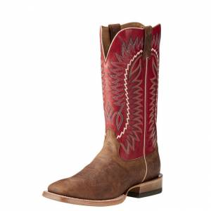 Ariat Relentless Elite - Mens - Dust Devil Tan/True Red