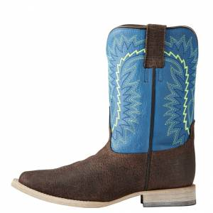 Ariat Relentless Elite - Kids - Chocolate Oiled Gaucho/Blue