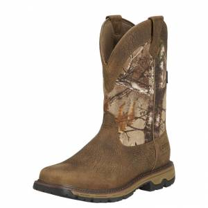 Ariat Conquest Pullon Waterproof Insulated - Mens - Ash Brown