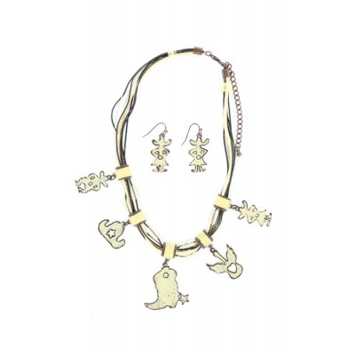 Metal Western Charms Necklace