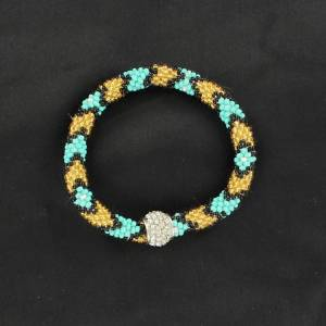 Seed Bead Bracelet with Larger Bead
