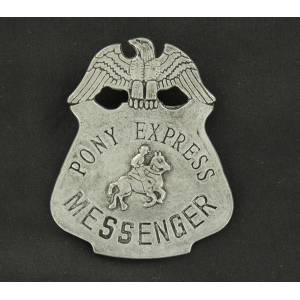 Pony Express Toy Badge