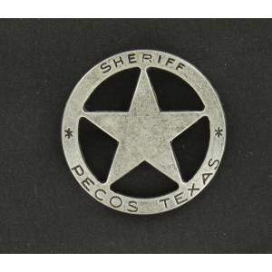 Pecos Sheriff Toy Badge