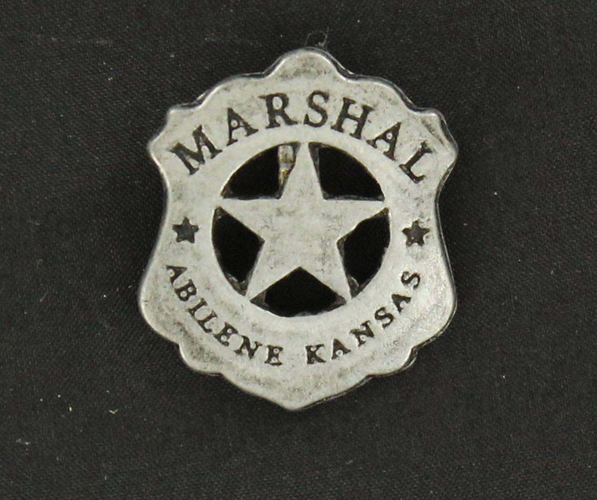 Abilene Kansas Toy Marshall Badge Pin