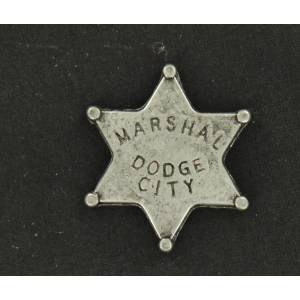 Dodge City Marshal Toy Badge Pin