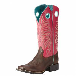Ariat Round Up Ryder - Ladies - Yukon Chocolate/Magenta