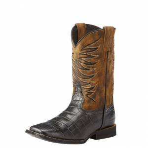 Ariat Fire Catcher - Kids - Black Caiman Print/Dark Marble