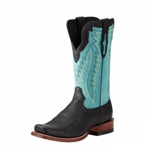 Ariat Relentless Prime - Mens - Black Bullhide/Light Aqua