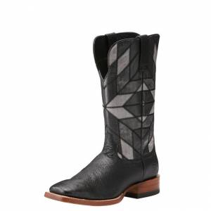 Ariat Relentless World Champ Square Toe - Mens - Ostrich Black/Night