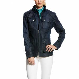 Ariat Sydney Waxed Cotton Jacket - Ladies - Marine Navy