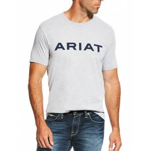 Ariat Mens Branded Tee Athletic Heather/Dark Gr