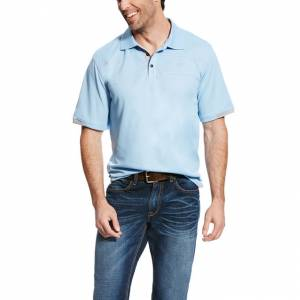 Ariat Links II Polo  - Mens - Ghost Blue