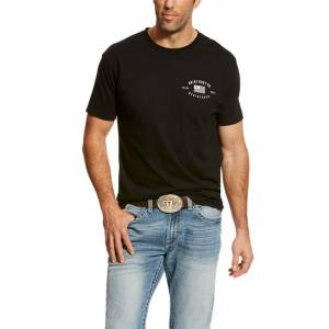 Ariat US Registered Tee - Mens - Black