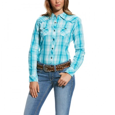 Ariat Real Stunning Snap Shirt - Ladies - Perfect Turquoise