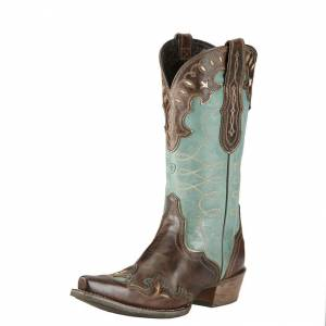 Ariat Zealous  Boots - Ladies - Barnwood/Teal Green