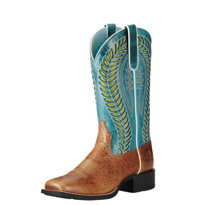Ariat Quickdraw Venttek - Ladies - Gingersnap/Turquoise